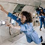 Christa McAuliffe Floats Forward and Upward