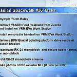 Russian Spacewalk 36 Task List