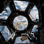 "ISS043E284928 (06/04/215) --- NASA astronaut Scott Kelly on the International Space Station captured this interesting image in the stations Cupola, the 360 degree observation area and remote control location for grappling and docking and undocking spacecraft. Scott tweeted this comment with the image on June, 4, 2015: ""Often when I look out the window I think we should call it Planet Water instead of Earth. Sadly mostly saltwater""."