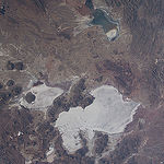 "ISS043E184521 (05/10/2015) --- NASA astronaut Terry Virts Expedition 43 Commander on the International Space Station tweeted this Earth observation image of South America with the following comment: ""Salar de Uyuni in the #Bolivia desert #SouthAmerica. The world"