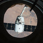 ISS043E228727 (05/21/2015) --- The SpaceX Dragon craft is poised and ready to be released from the International Space Station on May 21, 2015. This was SpaceX