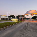 jsc2013e090960_alt (10/29/2013) ---The Johnson Space Center Main Entry Gate in early evening sun. The center is located in Houston Texas. Photo Credit NASA, Robert Markowitz